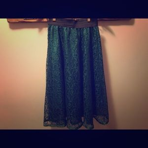 Dresses & Skirts - Green lace skirt